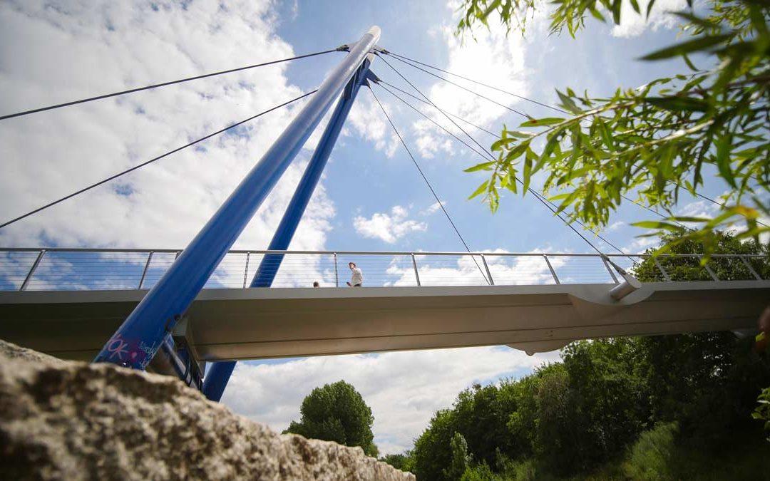 Die Pappelstiegbrücke in Erfurt