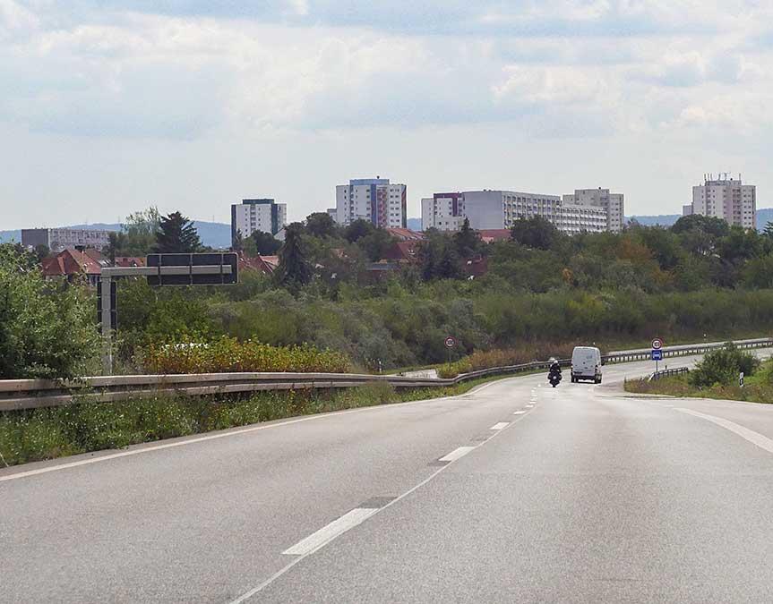 Erfurt von den Ausfallstraßen aus gesehen