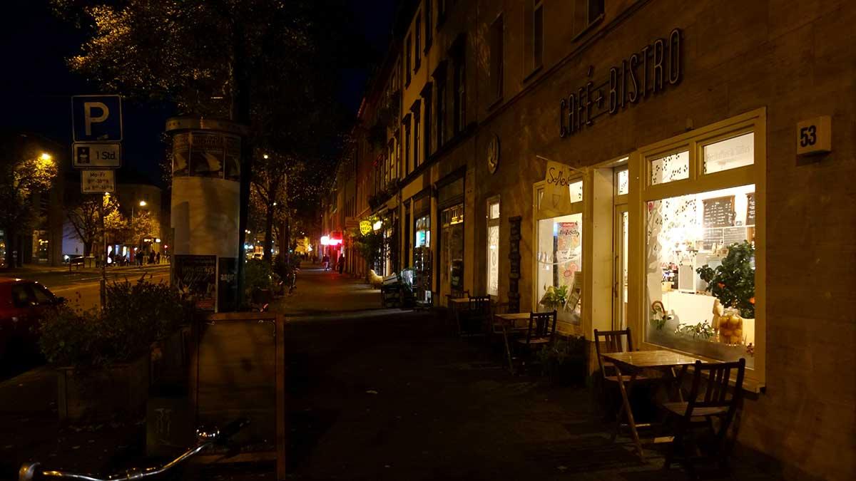 Cafe und Bistro des Bioladens Landmarkt in der Magdeburger Allee in Erfurt