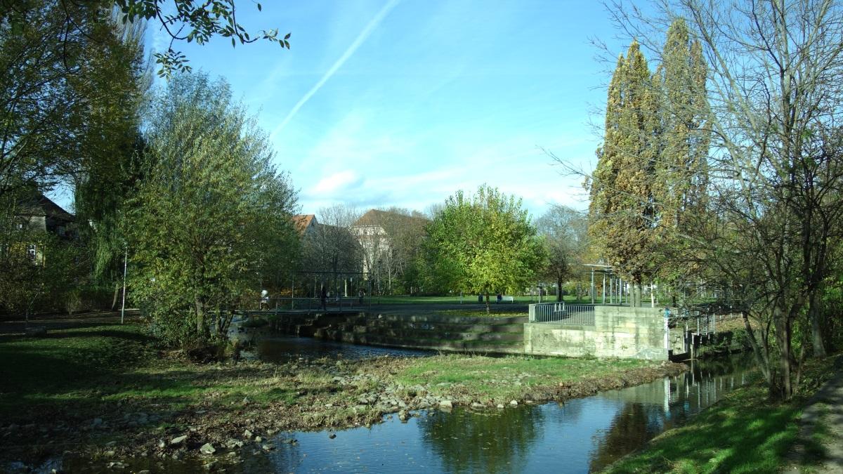 Der Park Venedig in Erfurt im Herbst