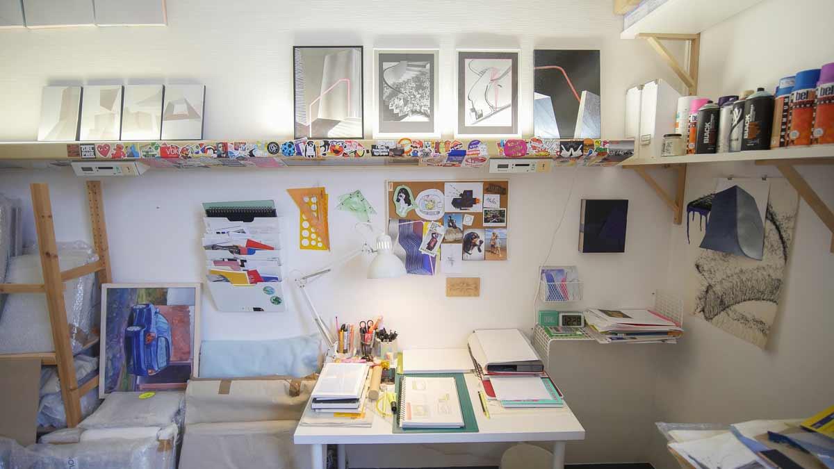 Atelier im Wächterhaus Erfurt in der ehemaligen Nervenklinik.