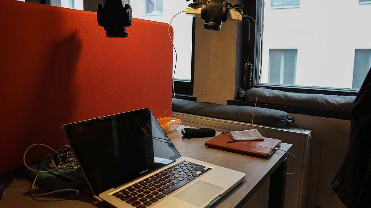 Laptop im Coworking Space Krämerloft in Erfurt