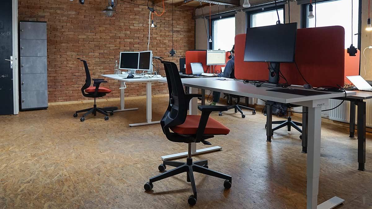 Einzelarbeitsplatz im Coworking Space Krämerloft in Erfurt