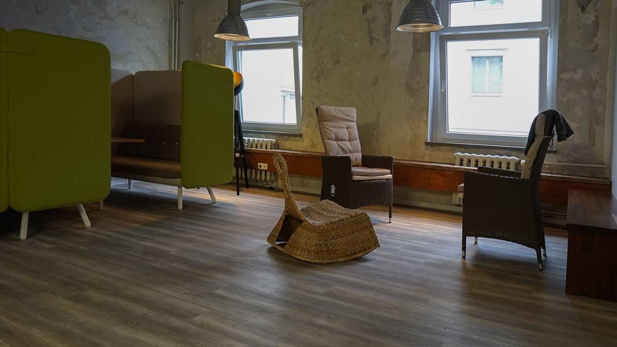 Besprechungsecke im Coworking Space Krämerloft in der Bahnhofstraße Erfurt