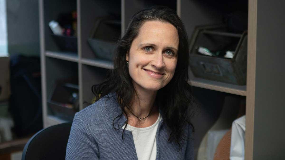 Nicole Sennewald Inhaberin des Coworking Spaces Krämerloft in der Bahnhofstrße Erfurt