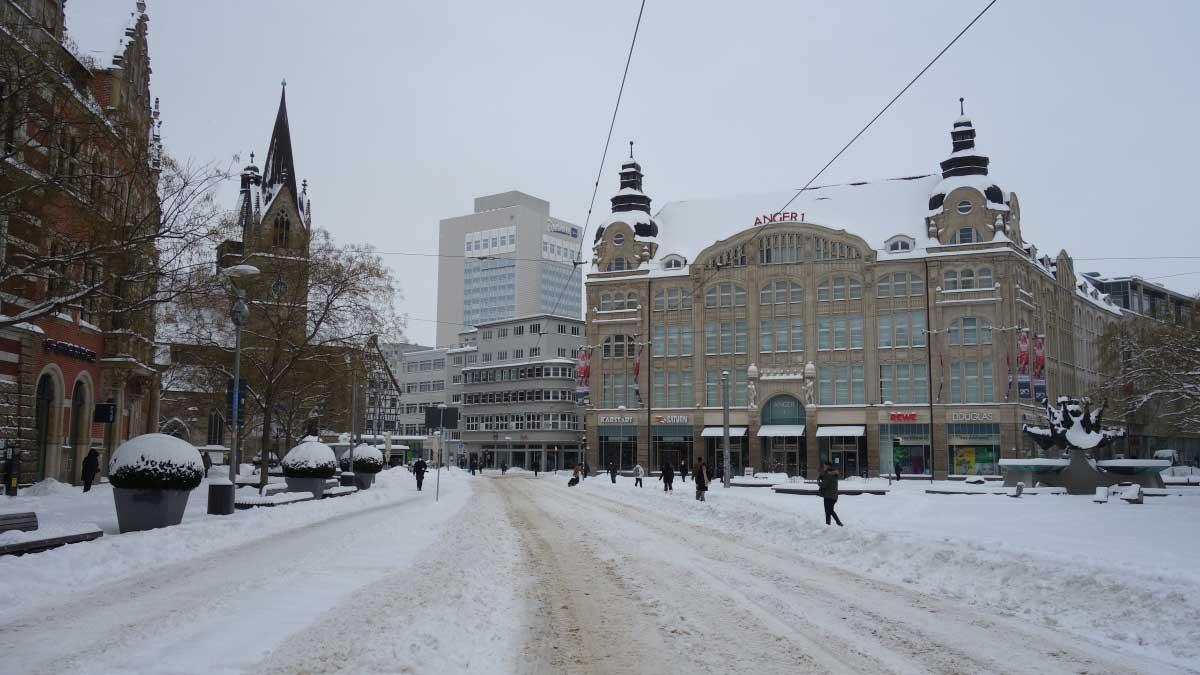 Anger von Erfurt im Schnee