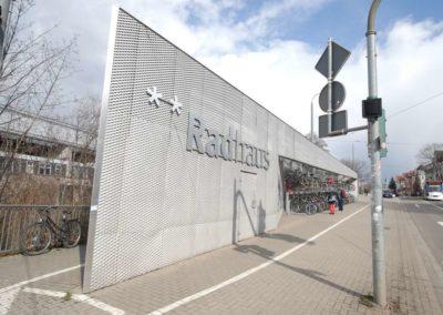 Radhäuser am Erfurter Hauptbahnhof