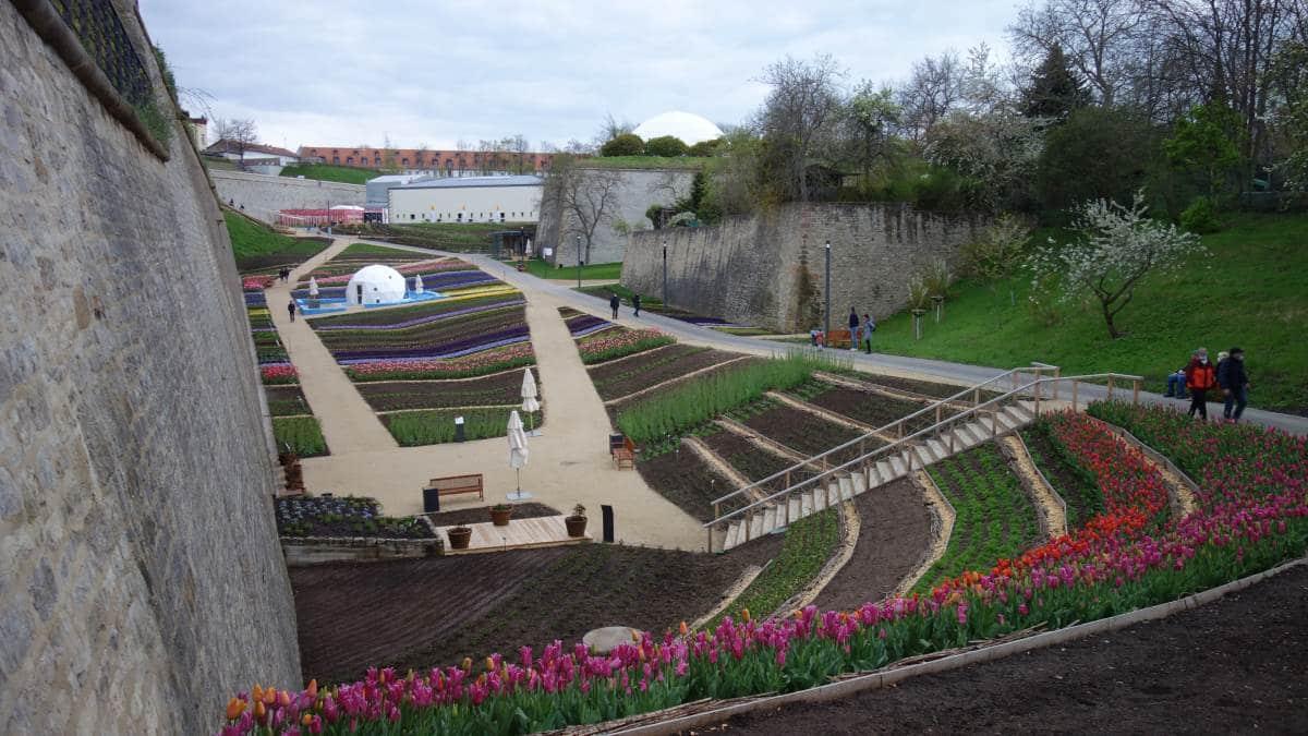 Festungsgraben der Zitadelle Petersberg in Erfurt Buga 2021