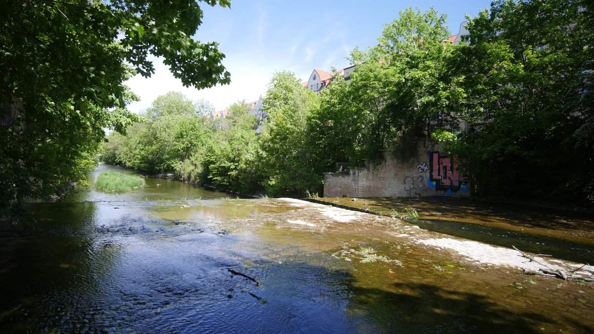 Der Flutgraben in Erfurt am Haus Fritzer